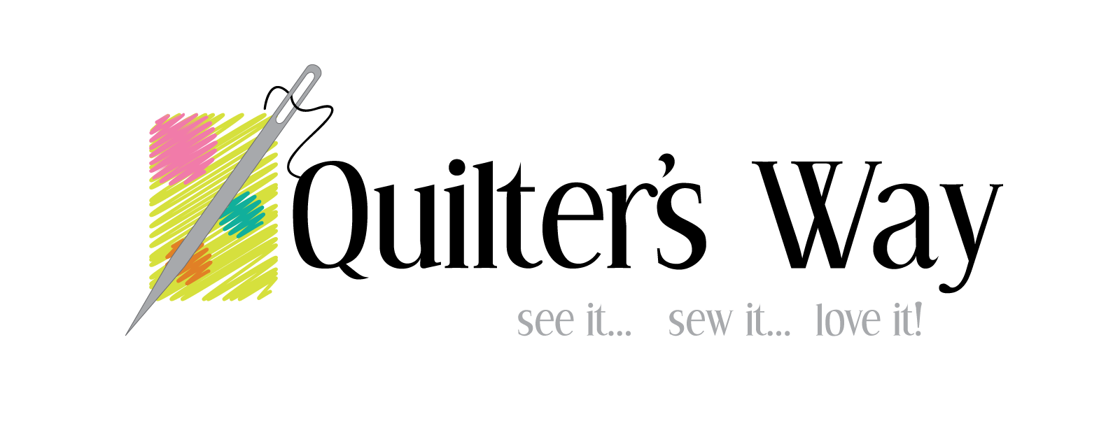 Quilter's Way Logo Redesign